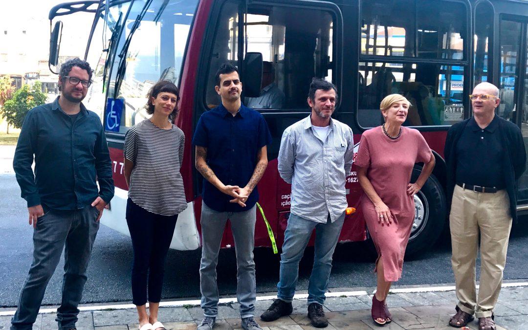 7ª Mostra 3M de Arte - Alexis, Gisela, Leandro, Maurizio, Giselle e Guto.