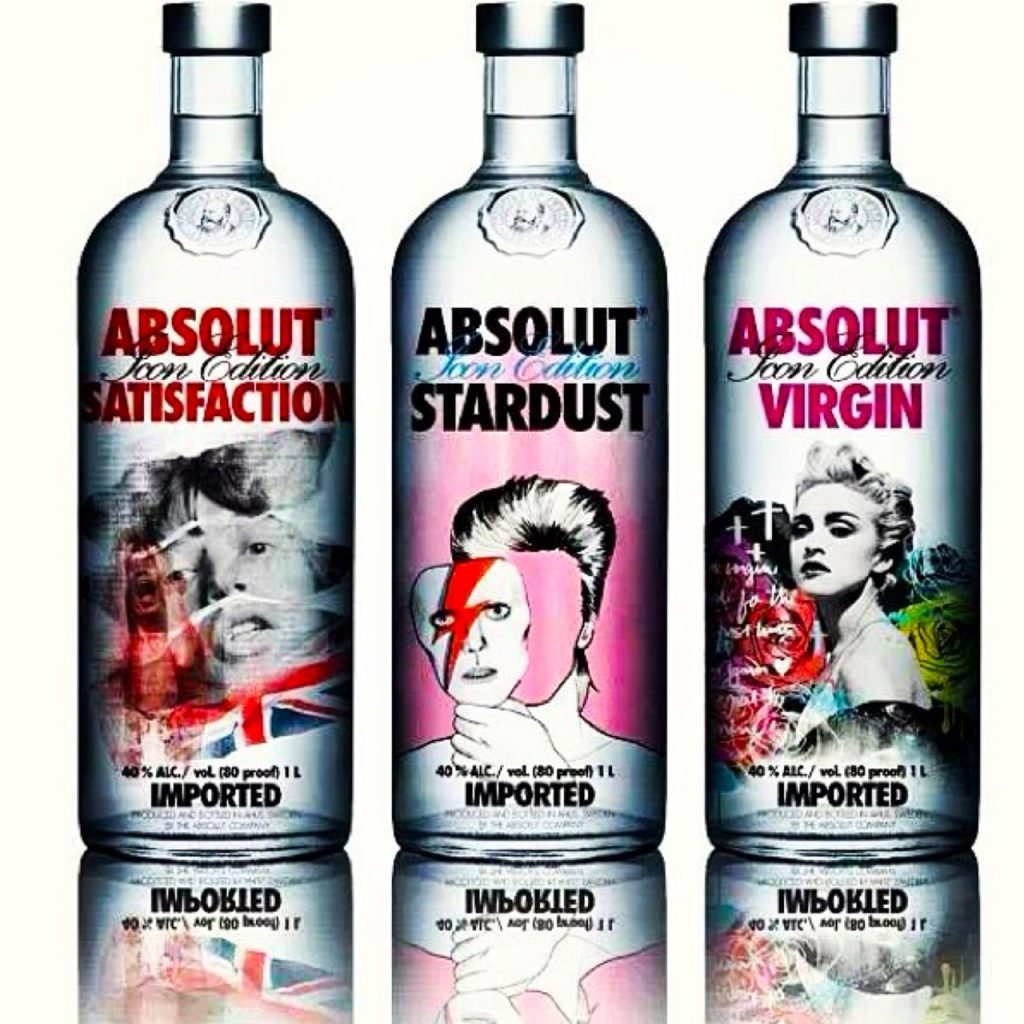 Absolut Art, Absolut-ly - Jagger, Bowie, Madonna. Celebrity inspired