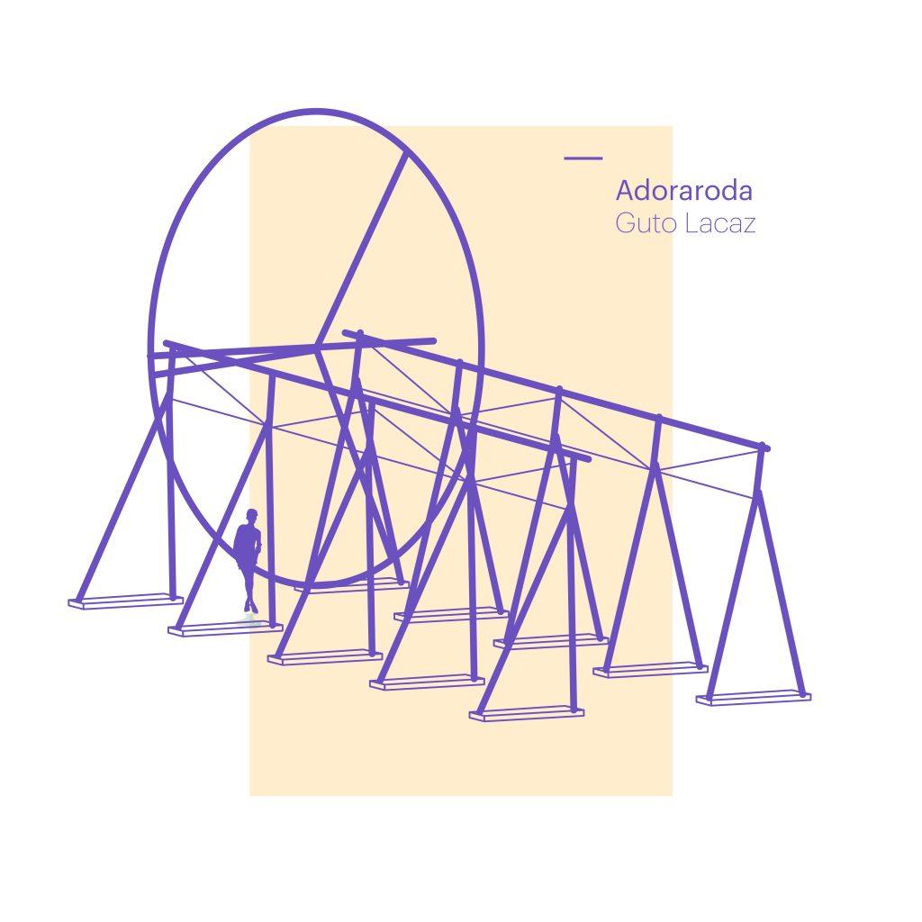 Adoraroda, de Guto Lacaz. Roda de 6 toneladas e 10 metros de diâmetro, que poderá ser girada pelo público.