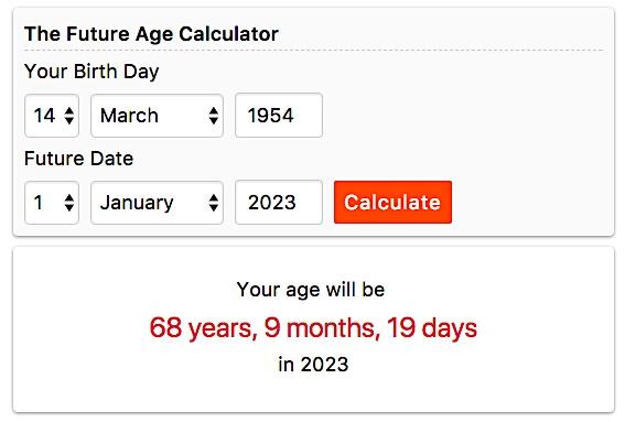 Calculador de Idade, em anos, meses e dias