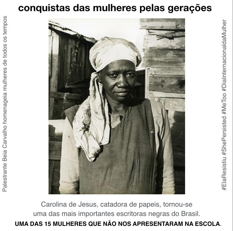Carolina de Jesus, catadora de papeis, tornou-se uma das mais importantes escritoras negras do Brasil.