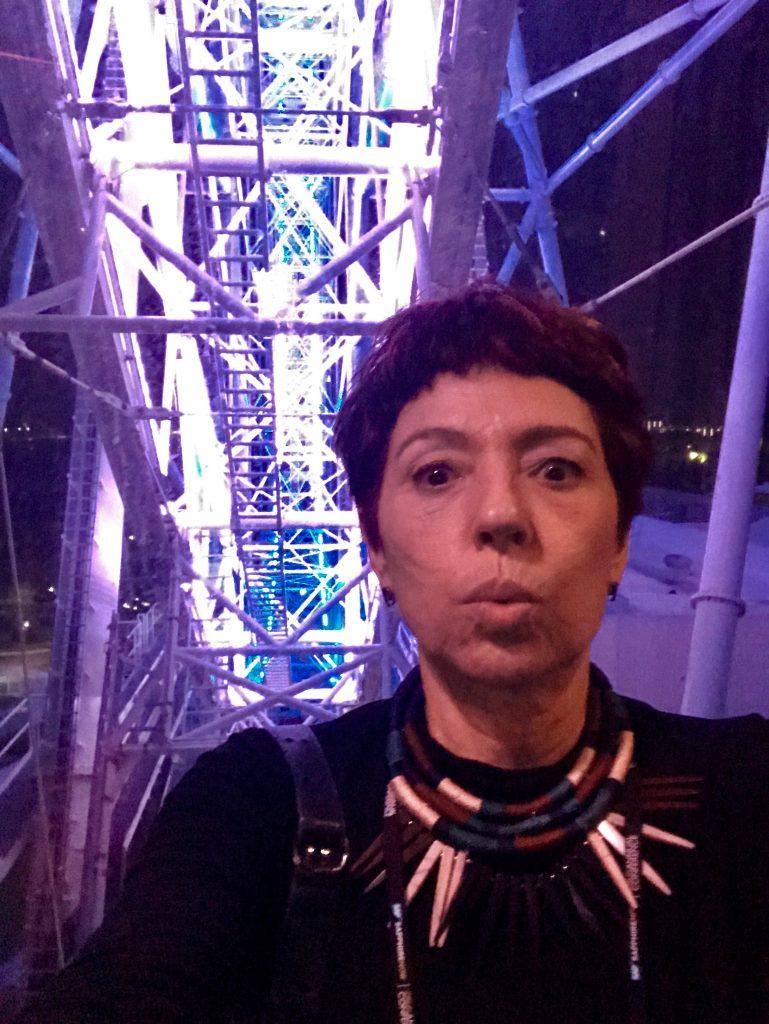 Foi nesse momento, na Roda Gigante a 122 m de altura, que recebi a notícia da delação do Joesley da JBS. (Orlando Eye)