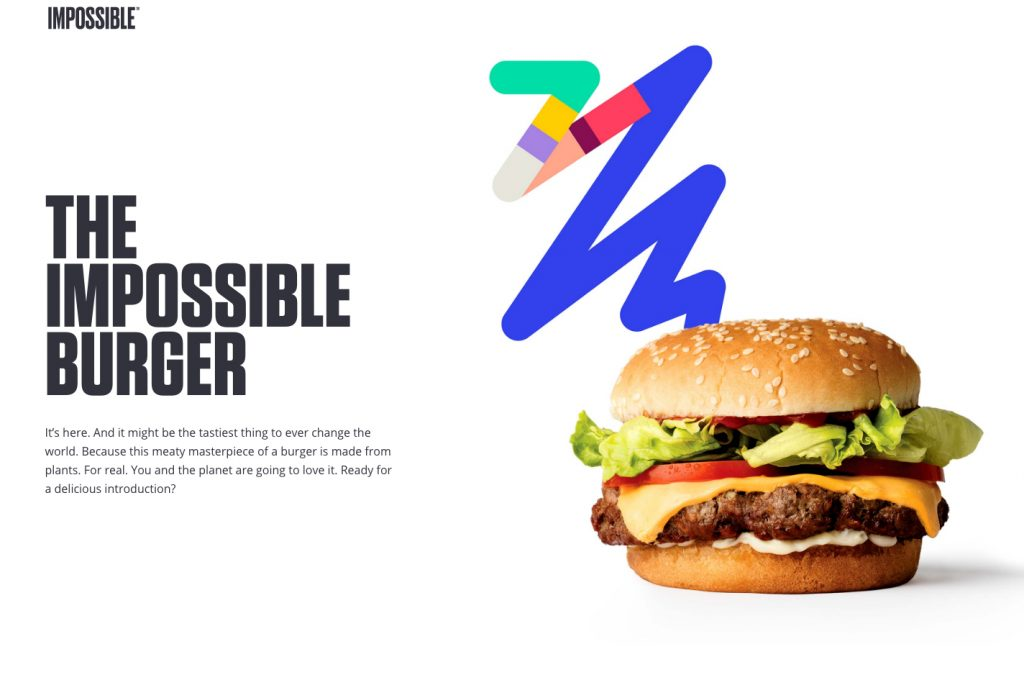 Foto do site Impossible Foods