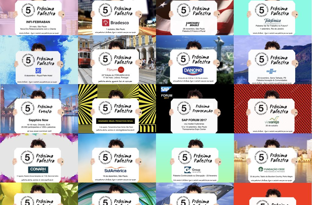Algumas das placas postadas nos ú3 a 4 anos nas redes sociais.