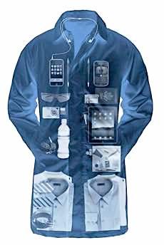 A mala-jaqueta da SCOTTeVEST, na categoria das roupas tecnológicas.