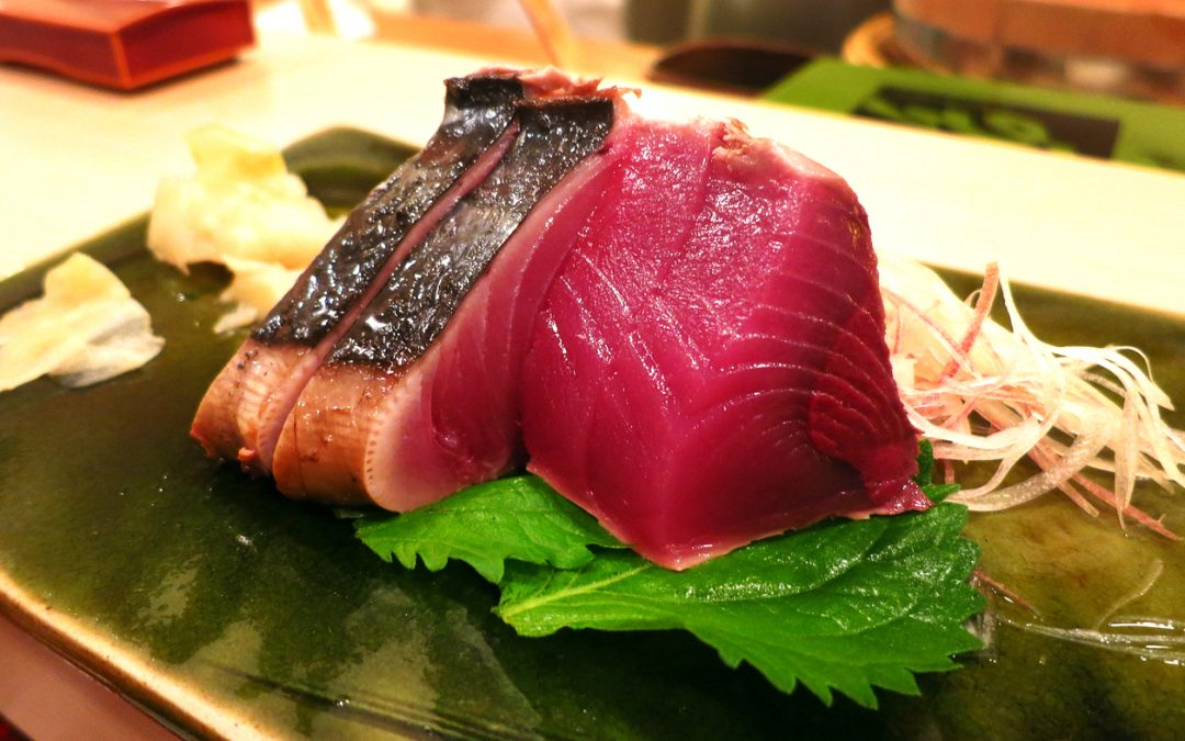 Sashimi do restaurante de Jiro, em Tóquio. Foto de Leon Brocard.