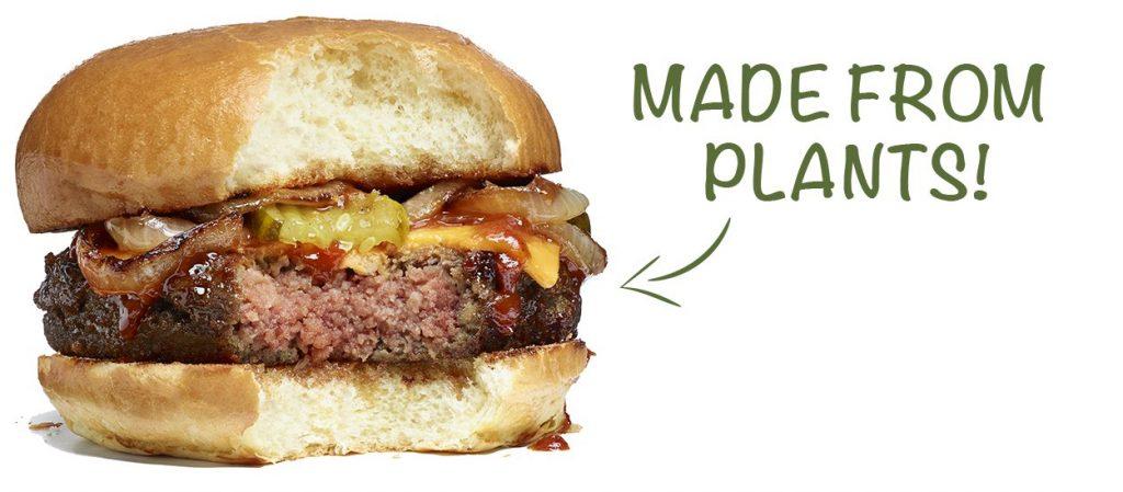O hambúrguer com todo o sabor de hambúrguer, feito de plantas.