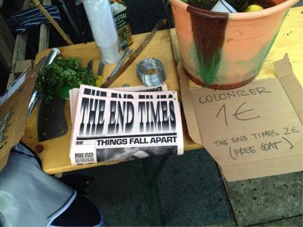 The End Times, jornal impresso em 2012, crítica e celebração da criatividade do hemisfério sul.